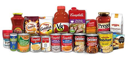 group picture of Campbell's products