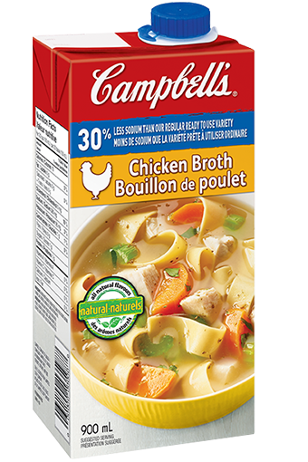 Campbell's 30% Less Sodium Ready To Use Chicken Broth