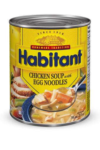 habitant chicken soup with egg noodles
