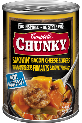 campbells chunky mini hamburgers fumants bacon et fromage 540 ml