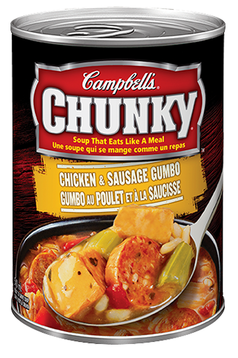 campbells chunky chicken sausage gumbo 540 ml