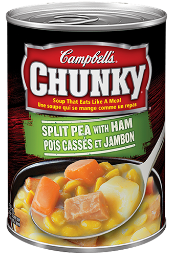 campbells chunky split pea with ham 540 ml
