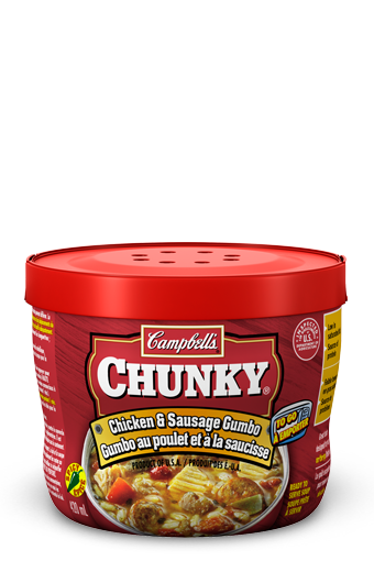 campbells chunky to go chicken sausage gumbo