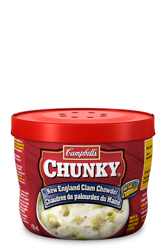 campbells chunky to go new england clam chowder
