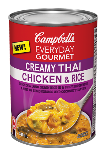 everyday gourmet creamy thai chicken & rice