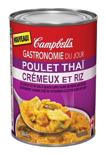 gastronomi du jour poulet thai cremeux et riz