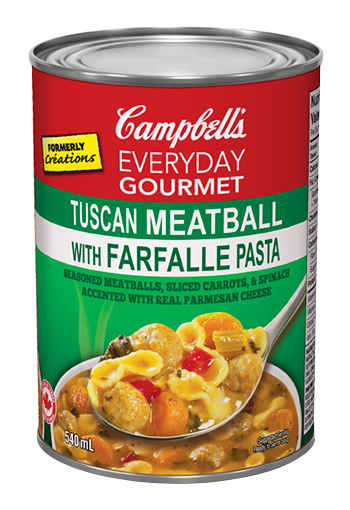 Everyday Gourmet Tuscan Meatball with Farfalle Pasta