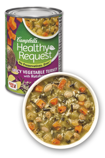 Campbell's Healthy Request Spicy Vegetable Turkey with Rutabaga