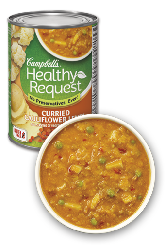 campbells healthy request curried cauliflower lentil