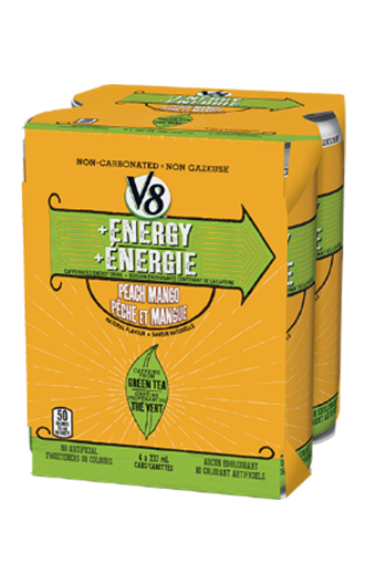 V8 Energy Peach Mango Multi-pack (4 x 237ML)0