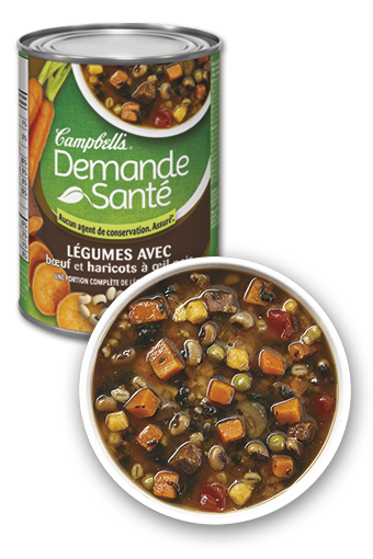 Campbell's Healthy Request Vegetable with Beef & Black-eyed Peas