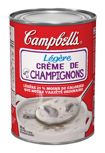 campbells prte dguster lgre crme de champignons