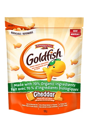 goldfish cheddar made with 70 organic ingredients 198g