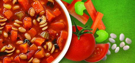Campbell's Demande Santé® Tomates et Légumes du Jardin avec haricot ronds et épinards