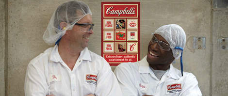 two Campbell's factory workers