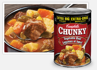 Campbell's Chunky vegetable beef