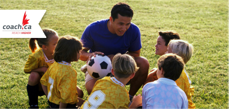 soccer coach and team