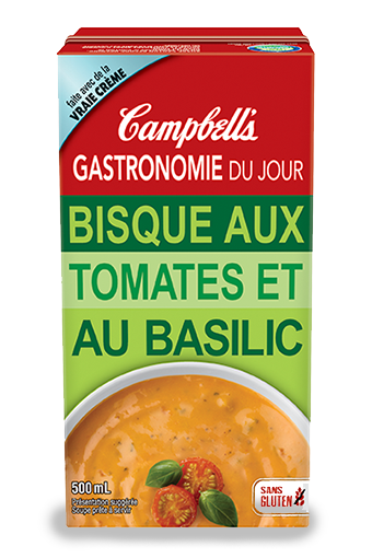 Bisque aux tomates et au basilic