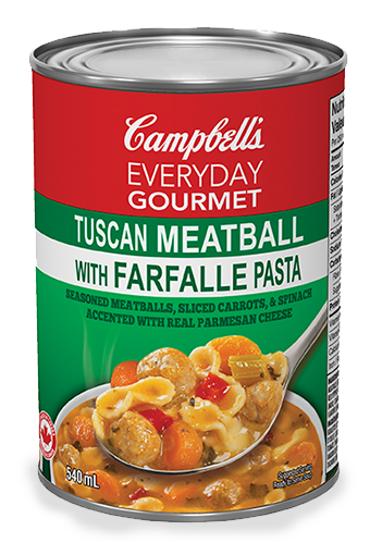 campbells everyday gourmet tuscan meatball with farfalle pasta