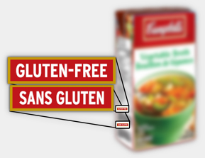 gluten-free Campbell's broth