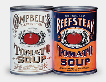 historical Campbell's cans