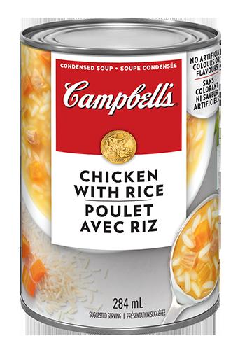 campbells condense poulet avec riz