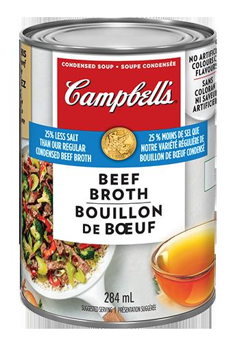 Campbell's condensée, Bouillon de Bœuf 25% moins de sodium