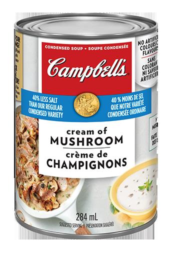 campbells condense crme de champignons 40 moins de sodium