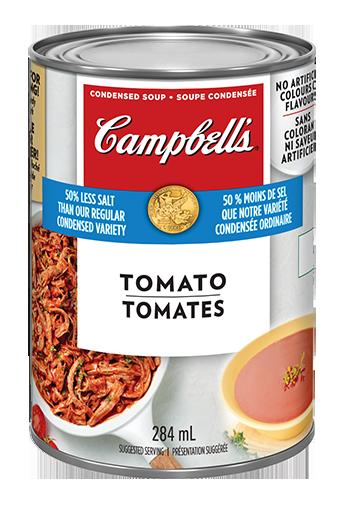 campbells condense tomates 25 moins de sodium