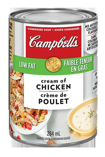 campbells condense crme de poulet faible teneur en gras