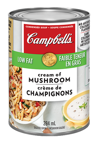 campbells condense crme de champignons faible teneur en gras