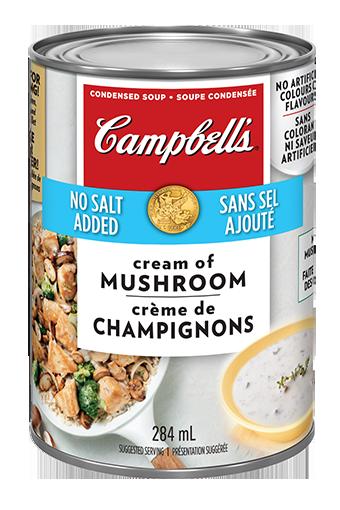 soupe condensée CampbellMD Crème de champignons sans sel ajouté