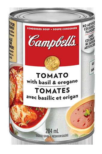 campbells condense tomates avec basilic et origan