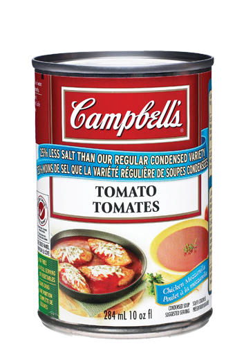 campbells condense tomates 25 moins de sodium