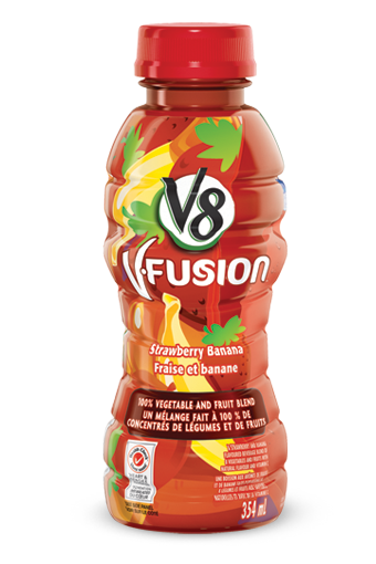 v8 v fusion strawberry banana 354 ml