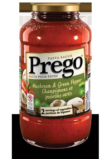 prego mushroom green pepper pasta sauce 645 ml
