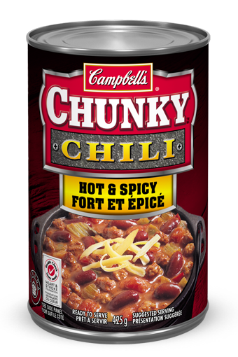 campbells chunky hot spicy chili 425 ml