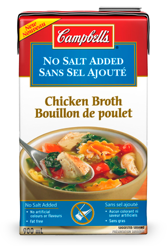 Campbell's No Salt Added Ready To Use Chicken Broth