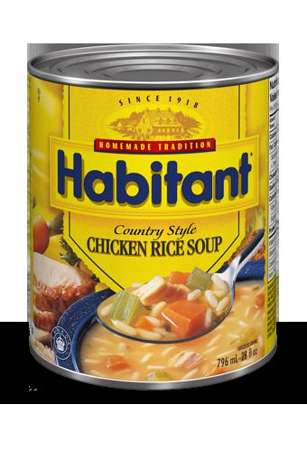 habitant soupe poulet et riz la campagnarde