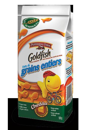 goldfish faits de grains entiers cheddar 180 g
