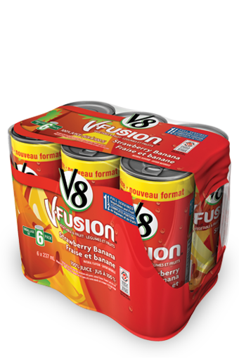 v8 v fusion strawberry banana 6 x 237 ml