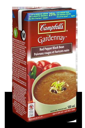 campbells gardennay red pepper black bean