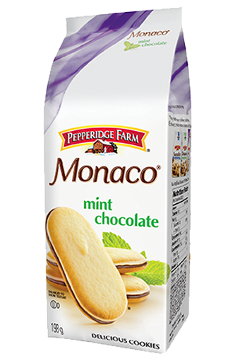 pepperidge farm monaco mint chocolate 198 g