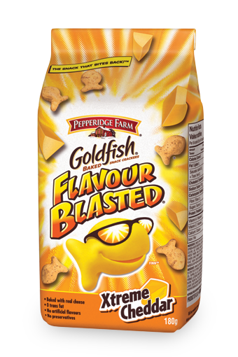 goldfish flavour blasted xtreme cheddar