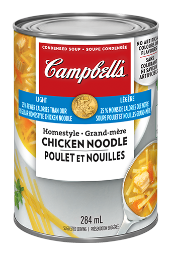 campbells condensed light homestyle chicken noodle