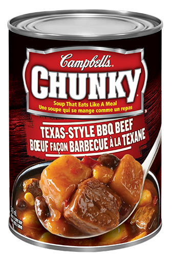 campbells chunky boeuf faon barbecue la texane 540 ml
