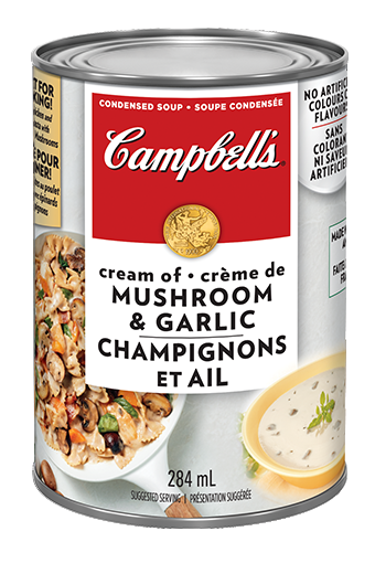 campbells condensed cream of mushroom garlic