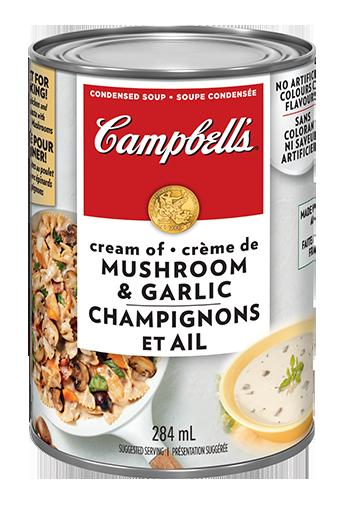 campbells condensed cream of mushroom garlic