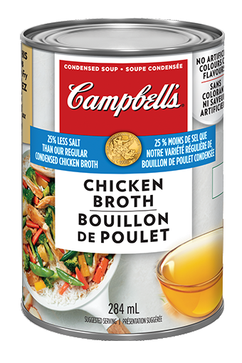 Campbell's Condensed 25% Less Salt Chicken Broth