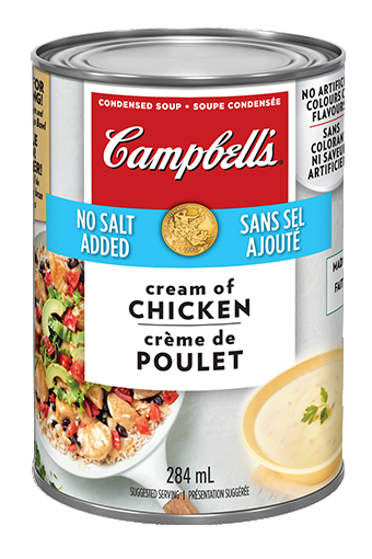 Campbell's® Condensed No Salt Added Cream of Chicken Soup